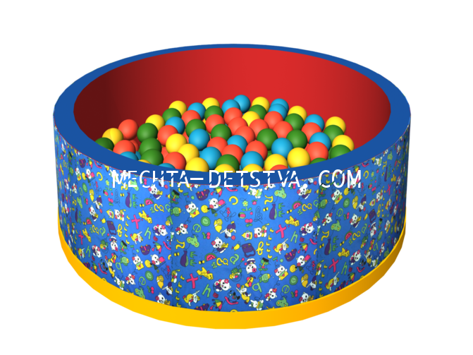 Сухой бассейн с шариками «Веселая полянка» ДМФ-МК-02.51.01