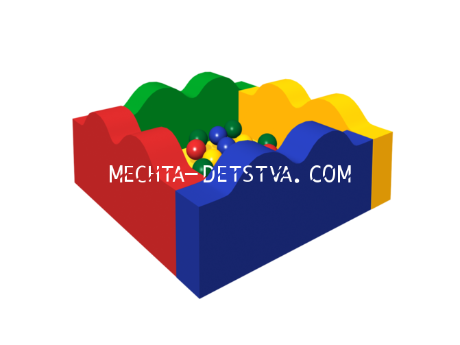 Сухой бассейн с шариками «Волна» ДМФ-МК-06.14.00