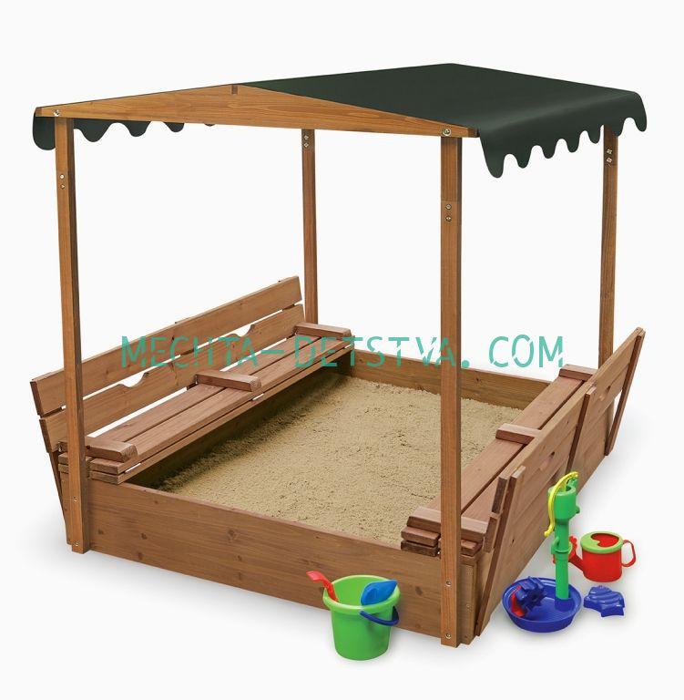 Песочница деревянная №4